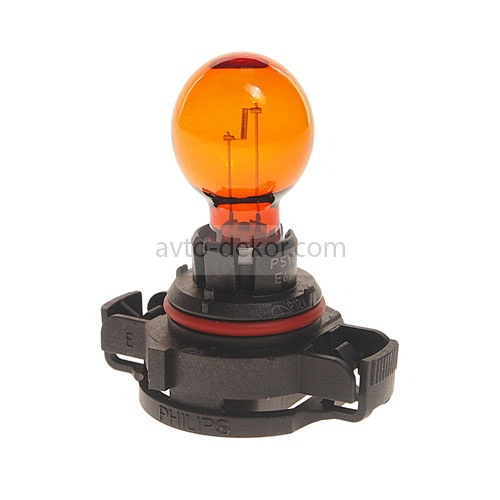 Автолампа Philips PSY24W (PG20/4) HALOGEN YELLOW 12V P-12188  10225
