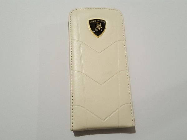 Чехол на iphone5 LAMBORGHINI белый  15022