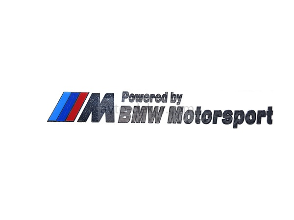 Наклейка металл ///M Powered by BMW Motorsport большая 95*16мм   3844