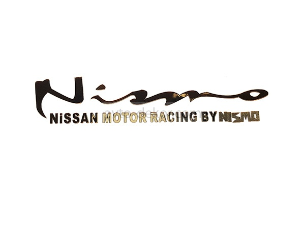 Наклейка металл NISMO NISSAN Motor Racing by Nismo золото 90*20мм  3963